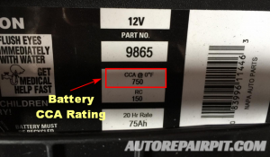 Battery CCA Rating