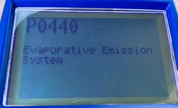 OBD P0440 EVAP Evaporative Emission Control System
