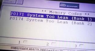 Ford Lean Codes P0171 & P0174