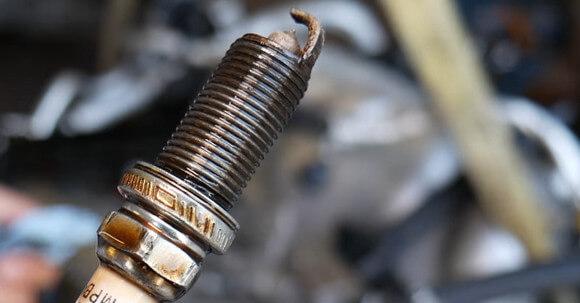 Spark Plug With Oil Deposits