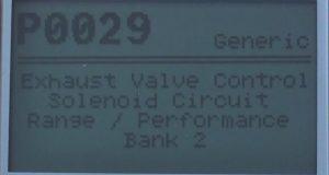 P0029 OBD II Fault Code Exhaust Valve Components